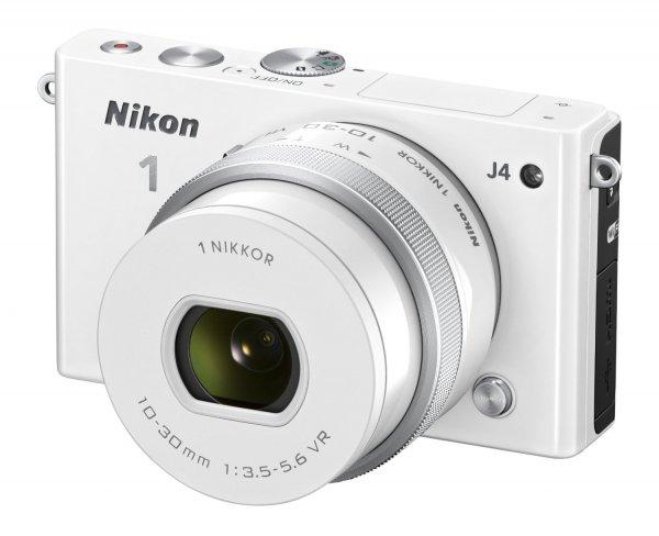 "Nikon™ - Systemkamera ""1 J4 Kit"" (18MP,3"" LCD-Display,Full HD Videofunktion,inkl.10-30mm PD-Zoom Objektiv,Tasche,16GB Speicherkarte) für €256,99 [@Redcoon.de]"