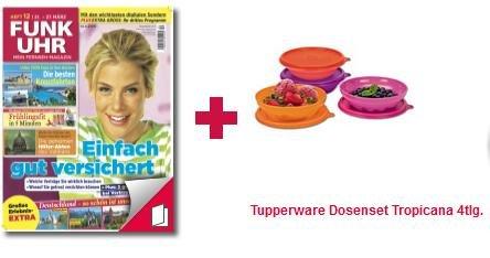 [Lesershop24] Funk Uhr Probeabo: 12 Ausgaben für 10€ + 4tlg. Tupperware Set