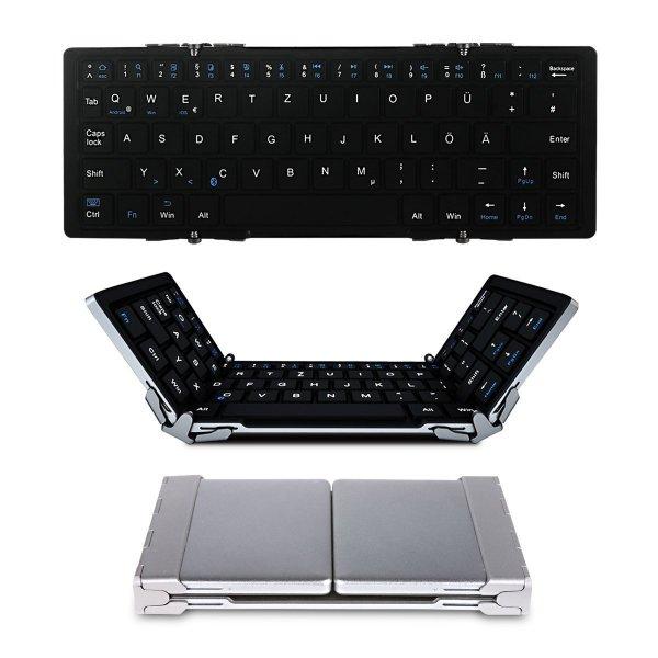 [AMA] EC Technology® Drahtlose Faltbare Bluetooth Tastatur für 28,99€