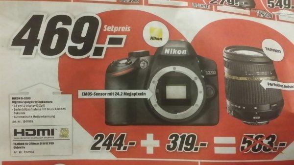 [Lokal MM Bruchsal] Nikon D3200 mit Tamron 18-270mm