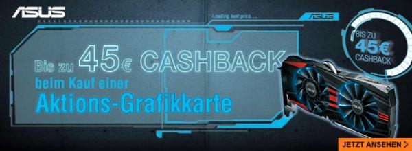 Asus Grafikkarten Cashback-Aktion - 45€ (GTX980 & R9 290X), 35€ (GTX 970 & R9 290), 25€ (GTX960)