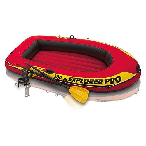 "Intex Bootset ""Explorer Pro 300"" inkl. 2 Paddel und Luftpumpe"