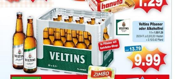 [ lokal offline ] Kaufpark Haltern - Veltins Pilsener 20 x 0,5l oder 24 x 0,33l plus Pfand
