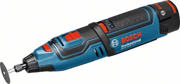 BOSCH BLAU Akku-Rotationswerkzeug GRO 10,8 V-LI in L-Boxx mit 2x2AH Akku