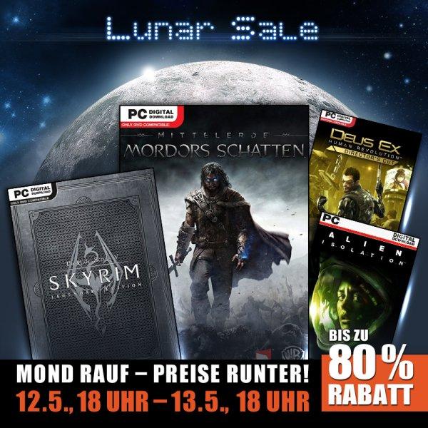 Lunar Sale @Gamesplanet: Mordor 12,49€, Skyrim Legendary 9,99€, Alien: Isolation 10,99€, Deus Ex: HR 3,99€ [Steam]