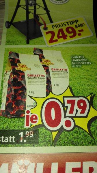 (lokal+offline) Grillettis Holzkohle-Grillbriketts 2kg für 0,79€ @ segmüller Weiterstadt