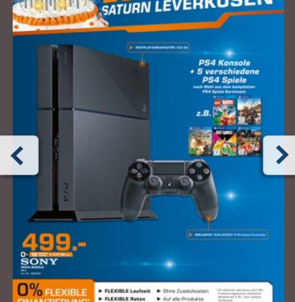 Saturn Leverkusen - PS 4 + 5 verschiedene Ps4 Spiele