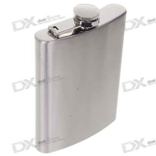 Flachmann (Stainless Steel Curved Pocket Liquor Flask (8.0 oz))