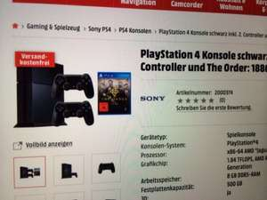 Playstation 4 inkl. 2 Controller u. The Order