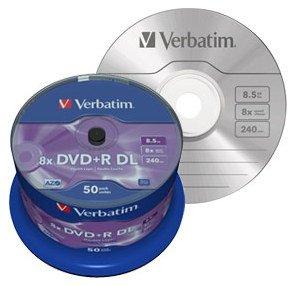 50x Spindel VERBATIM DVD+R Double Layer 8x Matt Silver@Atelco Computer