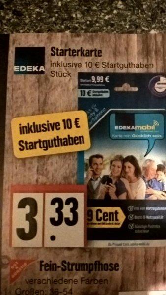 [EDEKA NORD] Prepaid SIM mit 10€ Startguthaben [kein PSN möglich]