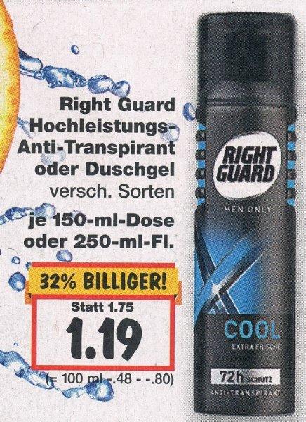 [Kaufland Süd?!] Right Guard Körperpflegeprodukt + 4 Ausgaben Kicker für 1,19€