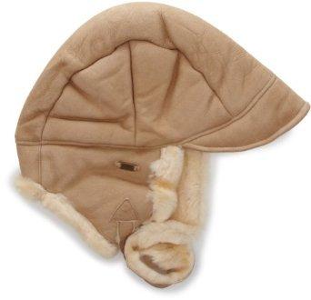 (Amazon Prime) Emu Accessoires Damen Mütze Lammfell (beige / schwarz)