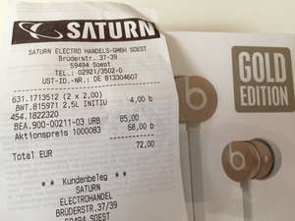 [Lokal Soest] Saturn Beats Urbeats SE für 68€