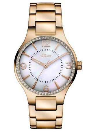 [Amazon.de] s.Oliver Damen-Armbanduhr XS Analog Quarz Edelstahl SO-2843-MQ für 69,68€ statt 99,00€