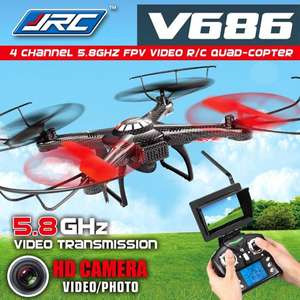 @Aliexpress JJRC V686  Quadcopter mit HD-Kamera und LCD-Monitor