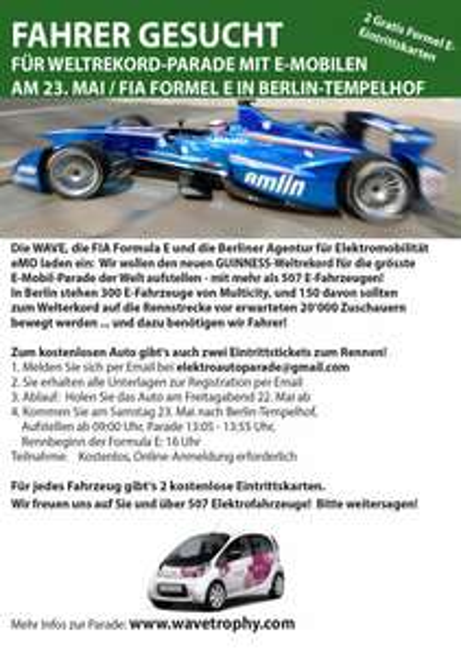 Mit Multicity Kostenlos zur FIA Formula E - Berlin