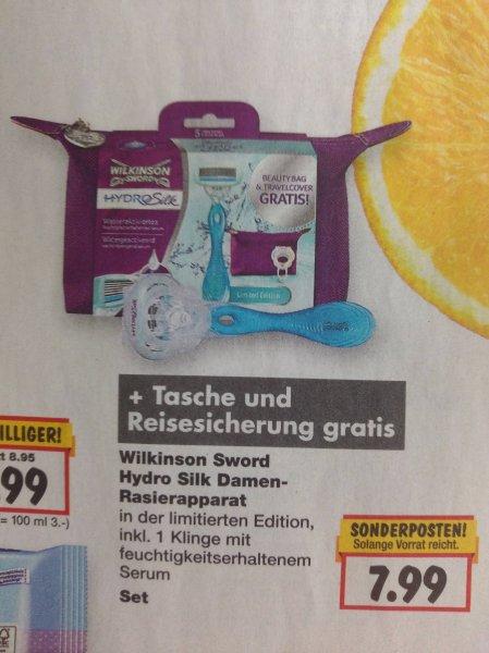 [Bundesweit Kaufland + Coupon] (ab 18.05.) Hydro Silk + Reisetasche und -sicherung für 2,99€