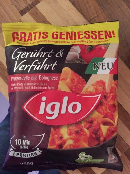 IGLO Gerührt & Verführt - Ein Gericht gratis