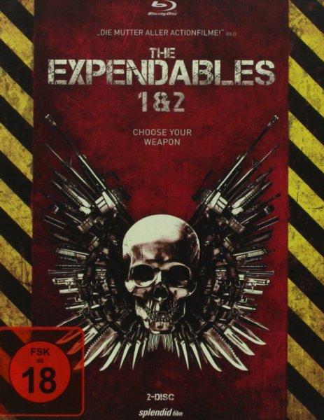 [Buch.de] The Expendables 1+2 Steelbook (Uncut, Bluray, FSK 18) für 16,80€ *** die FSK-16-Version für 7,99€ bei [Saturn]