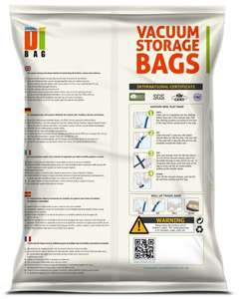 DIBAG ® 4er-Pack Platzsparende Vakuum-Kleiderbeutel 2x(100X80 cm) mit Ventil (Versankostenfrei mit Prime)