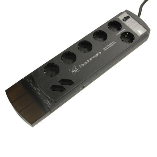 [3% Qipu] 8fach PC-Steckdosenleiste mit Fußschalter und Überspannungsschutz für 9,99€ frei Haus @Dealclub