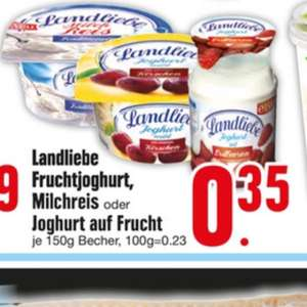 Landliebe Jogurt 0,18€