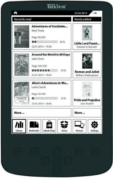 trekstor eBook Reader 15,2 cm (6 Zoll), Pyrus 2 LED für 54,90€