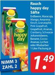 """Rauch """"Happy Day""""-Säfte: 3-für-2-Aktion // 1,00 €/Liter @famila Nordost"""