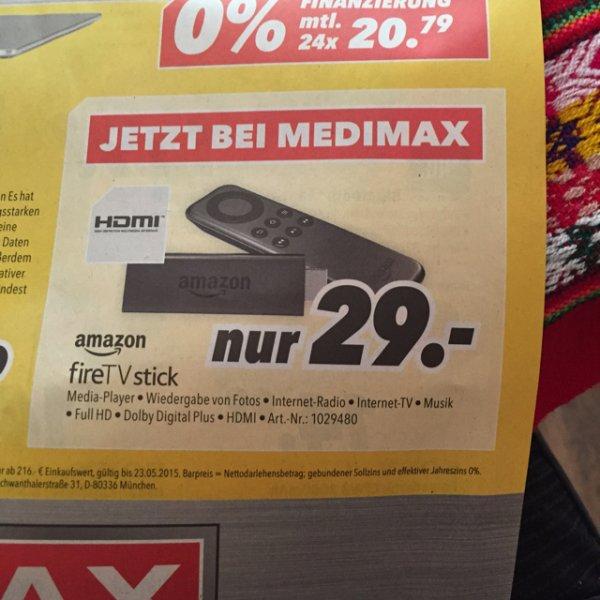 Medimax Nettetal *Lokal?* Fire TV Stick 29 Euro