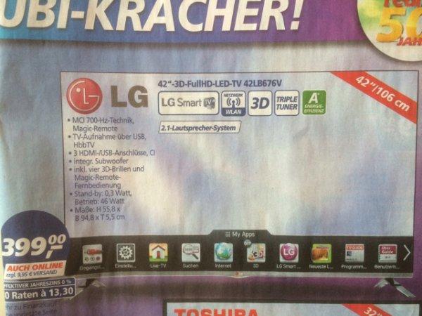LG 3D Full HD LED 42LB676V