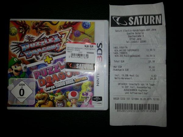 "Lokal: Saturn Jena Thr Nintendo 3DS ""Puzzle & Dragons Super Mario Bros Edt."""