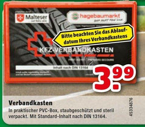 [hagebaumarkt] Kfz Verbandkasten 3,99€