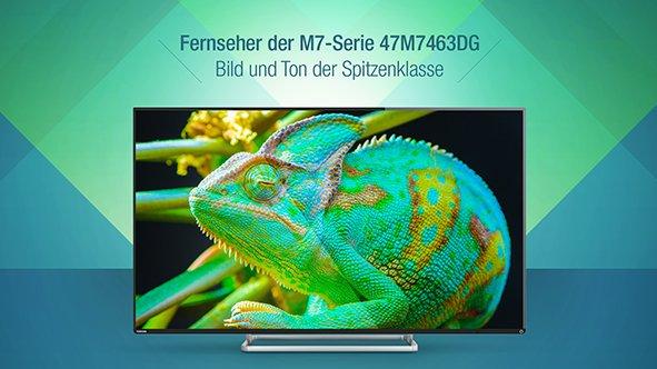 """Toshiba 47M7463DG LED-TV/Full-HD/1080p/3D/WLAN/47""""/DVBT/1500 Hz/Dolby Digital Plus"""