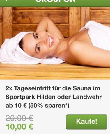 2x Eintritt Sauna im Sportpark Hilden 12€ oder Landwehr 10€