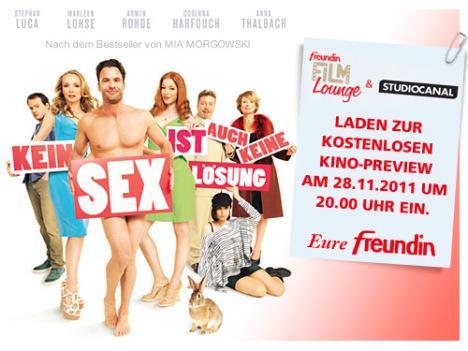 """Fast kostenlos ins Kino zu """"Kein Sex ist auch keine Lösung"""""""