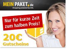 [DHL Packstation] 20€ MeinPaket-Gutschein (MBW 20€) für 1000 Packstation-Punkte