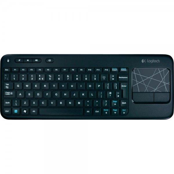 Logitech Funk-Tastatur K400 Wireless Touch (schwarz, Integriertes Touchpad, Maustasten) für 23,99€ + 5fach Paybackpunkte   @Conrad.de