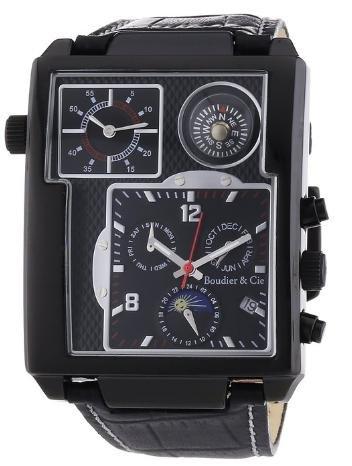 [amazon.de] Boudier & Cie Herrenuhr mit Lederarmband und zwei Uhrwerken: 1x Automatik und 1x Quarz für 154,26€ incl.Versand!