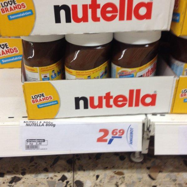 Nutella 800 gr für 2,69€ im Real