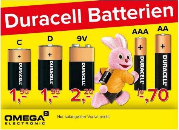 Diverse Batterien von Duracell z.B. AA