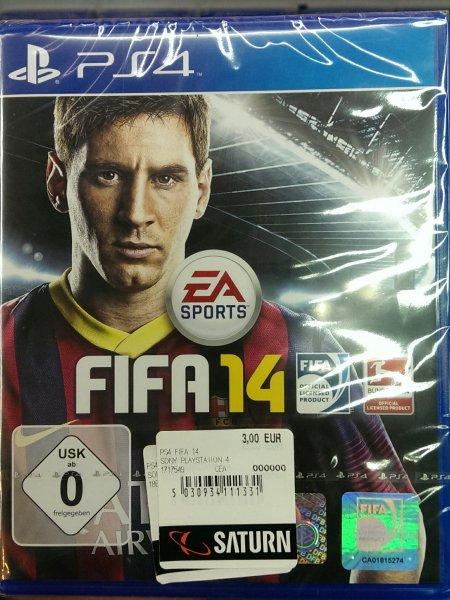 Fifa 14 PS4  für  3€ (Saturn Jena)