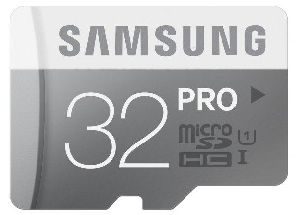 Samsung Memory 32GB PRO MicroSDHC UHS-I  Class 10 Karte (bis zu 90MB/s Transfergeschwindigkeit) inkl.Vsk für 20,75 € > [amazon.es]