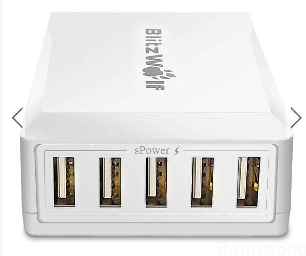 BlitzWolf 40W Smart 5-Port USB Ladegerät @Banggood.com