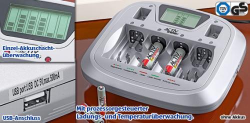 ALDI Süd ab 21.11.11 – ACTIV ENERGY Profi-Schnell-Ladegerät für 16,99 €
