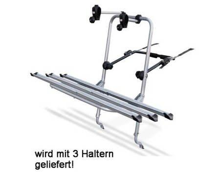 LOGIC Heckträger, Fahrradträger, 2 oder 3 Fahrräder (dann 104€) , CLIP-ON-System mit Schienen, TÜV für 94€ @ Allyouneed