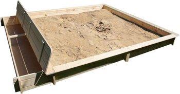 Promex Yanick Set Sandkasten mit Staufach PX-356/60, 119,- EUR @ gartenmoebel-express