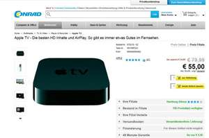 APPLE TV 3 @ CONRAD Hamburg-Filialen - 55 EUR