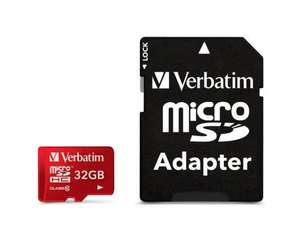 Verbatim 32GB Tablet Micro SD (SDHC) Karte Class 10 UHS-1 mit Adapter inkl. Vsk für 10,85 € > [mymemory.uk]