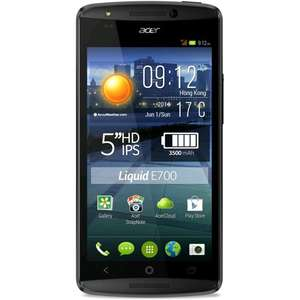 [Orange Store]  Acer Liquid E700 Trio Dreifach-SIM (5'' HD IPS, 1,3GHz Quadcore, 2GB RAM, 16GB intern, 3500 mAh) für 134,99€